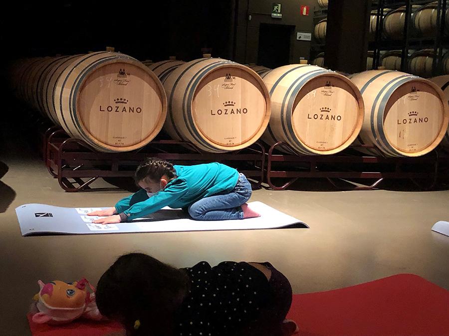 Eventos  - Bodegas Lozano - Pilates infantil