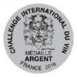 Challenge International Du Vin Medaille Argent France 2018 Silver - Logo
